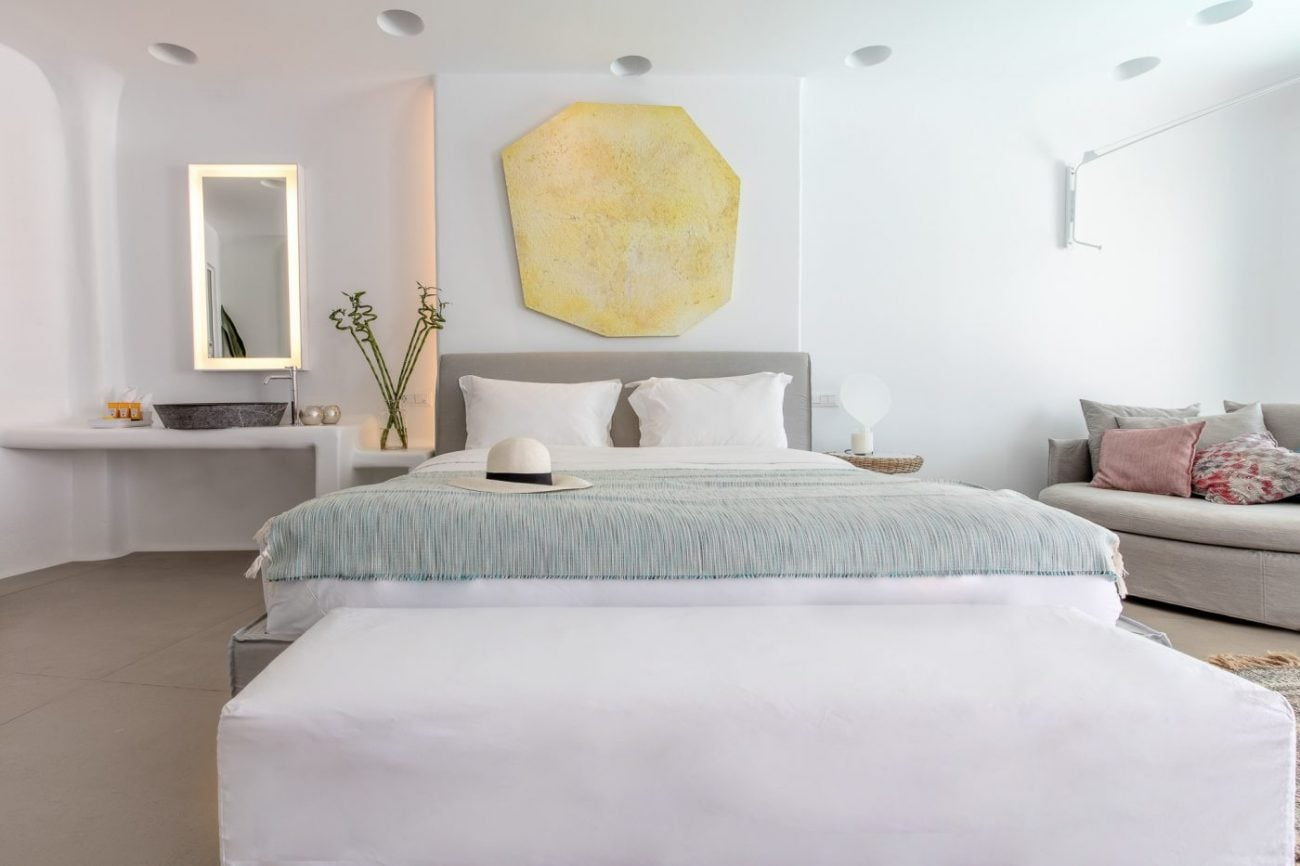mykonos blanc hotel bedroom