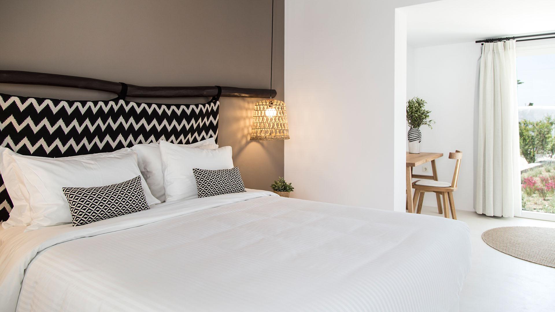 my mykonos hotel bedroom