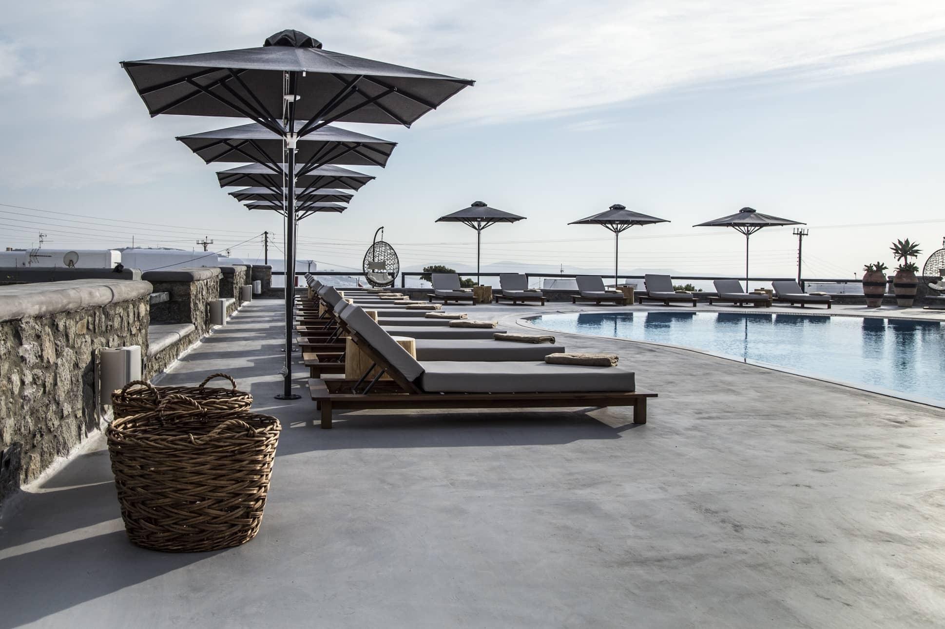 my mykonos hotel pool